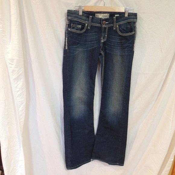 Buckle BKE SABRINA Boot Cut Denim Jeans Womens 28